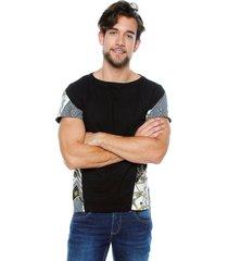 camiseta negra con detalles osop mansion men's fashion jackpot