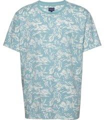 d2. riviera view ss t-shirt t-shirts short-sleeved blå gant