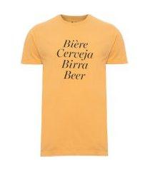 t-shirt masculina biere - amarelo