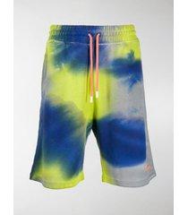 marcelo burlon county of milan tie-dye logo track shorts