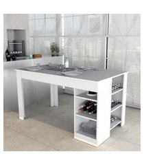 mesa de jantar enjoy appunto mes4005 c/ 6 prateleiras