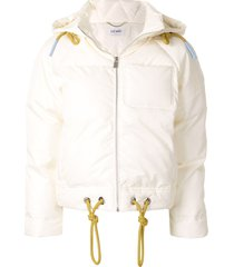lu mei crystal palace puffer jacket - yellow