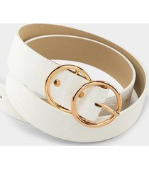kai double circle belt - white