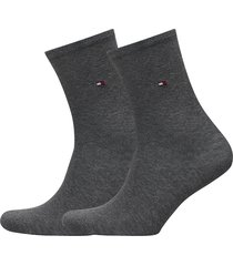 th women sock casual 2p lingerie socks regular socks grå tommy hilfiger