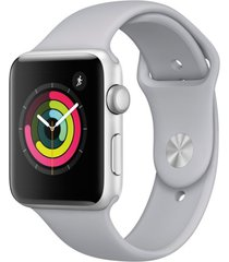 apple watch series 3 38mm silver aluminium case with fog sport band (gps) - (mqk