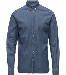 vagrant chambray shirt overhemd casual blauw les deux