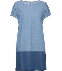 dresses denim kort klänning blå edc by esprit