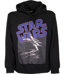 etro star wars hooded sweatshirt black