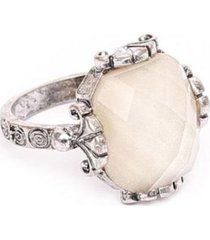 anillo antique plateado humana