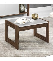 mesa de centro em az1022 nogal/branco bp - tecno mobili