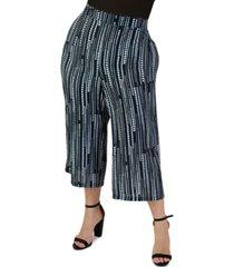 maree pour toi plus size cropped wide-leg pants