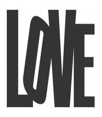 enfeite decorativo palavra love silhueta preto mdf 21x47cm