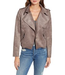 women's kut from the kloth jacee draped moto jacket, size x-large - brown