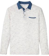 polo a maniche lunghe (bianco) - john baner jeanswear
