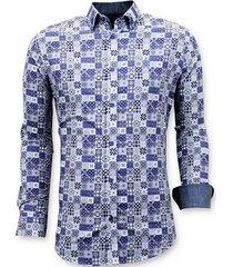 overhemd lange mouw tony backer luxe digitale print