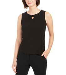 nine west ruched-knot keyhole top