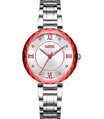 reloj loix ref. l1162-6 pp/rojo