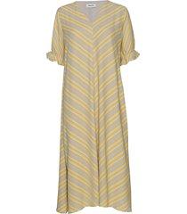 clementine print dress jurk knielengte geel modström
