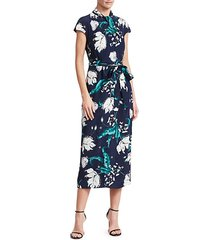 finn beaded floral midi dress