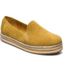 amber gold suede sandaletter expadrilles låga gul toms