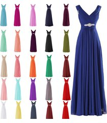 2017 new chiffon beaded bridesmaid party eveing formal prom dress uk size: 6-22
