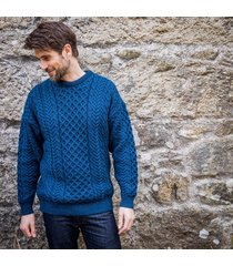 men's atlantic aran sweater dark blue s
