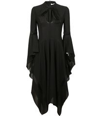 j.w. anderson fluted sleeve dress