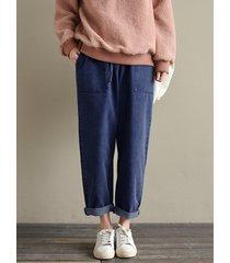 pantaloni oversized in denim
