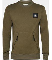 g-star d19235 c584 box logo sweater 723 combat green -