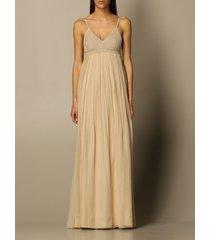 alberta ferretti dress alberta ferretti long silk dress with crochet bodice