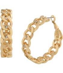 jessica simpson stone chain hoop earrings