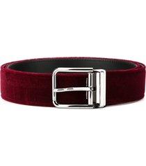 dolce & gabbana velvet belt - red