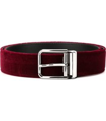 dolce & gabbana velvet belt - red