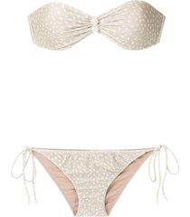 adriana degreas bandeau bikini set - green