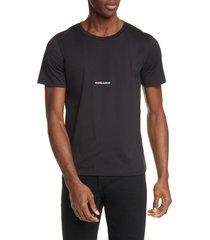 men's saint laurent gauche logo t-shirt, size xx-large - black