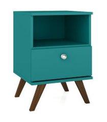 mesa de cabeceira c/ 1 turquesa gaveta móvel bento azul