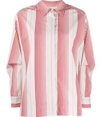 odeeh vertical striped shirt - white