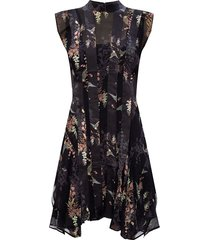 'fleur' mock neck dress