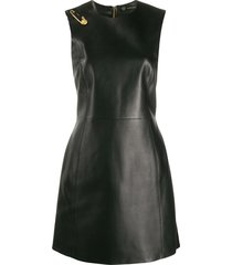 safety pin leather dress