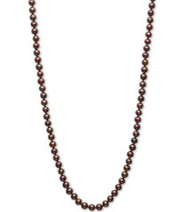 "dyed chocolate cultured freshwater pearl (5mm) 18"" collar necklace"