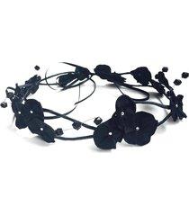 headband fuxicos & frescuras coroa de fada dupla preto