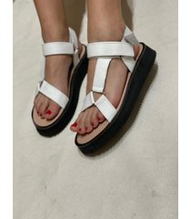 sandalia blanca via praga gala
