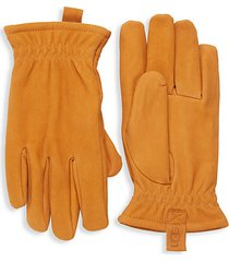 faux fur-lined suede gloves