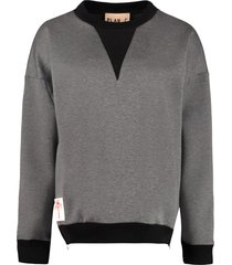 plan c cotton crew-neck sweatshirt