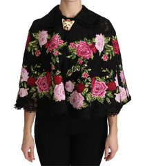 floral dog cape coat cotton jacket