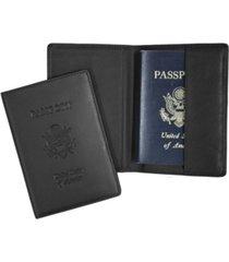 royce new york passport seal embossed rfid blocking passport case