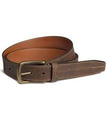 men's trask leather belt, size 42 - walnut