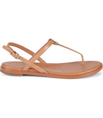 flora leather thong sandals