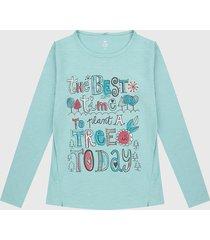 camiseta manga larga azul aguamarina-multicolor boboli