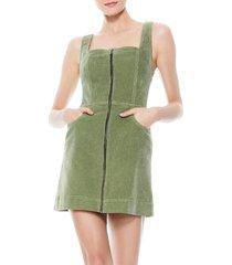 alice + olivia women's renita zip-front mini dress - sage - size 0